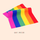 Rainbow flag and text gay pride Royalty Free Stock Images