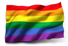 Rainbow flag royalty free illustration