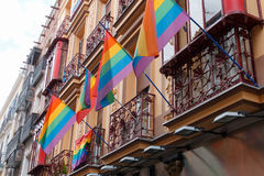 Rainbow flags Stock Images