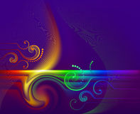 Rainbow_flame Stock Images