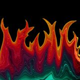 Rainbow flames. Rainbow colored fire flames illustration Royalty Free Stock Photography