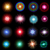 Rainbow flares Royalty Free Stock Image