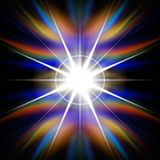 Rainbow Flash of Light Royalty Free Stock Images