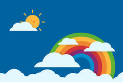 Rainbow flat design Royalty Free Stock Photo