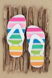 Rainbow Flip Flops Stock Photography