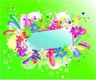 Rainbow  floral banner Stock Photos