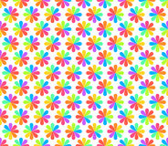 Rainbow Floral Geometric Seamless Pattern. Vector royalty free illustration