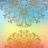 Rainbow floral ornament mandala background card Stock Photography