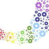 Rainbow floreale Immagini Stock Libere da Diritti