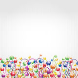 Rainbow flower boll background Royalty Free Stock Images