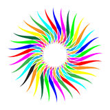 Rainbow Flower Royalty Free Stock Images