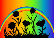 Rainbow Flower Design. Illustrations Rainbow Flower Design art Stock Photography