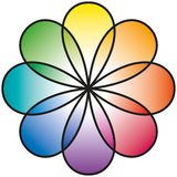 Rainbow Flower Stock Photography