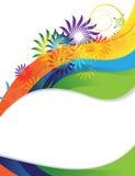 Rainbow flower frame Stock Images