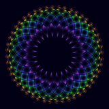 Rainbow flower of life Royalty Free Stock Photos