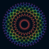 Rainbow flower of life Royalty Free Stock Photography