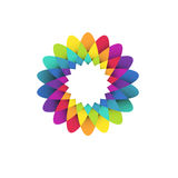 Rainbow flower logo Stock Images