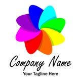 Rainbow Flower Logo - Vector royalty free illustration