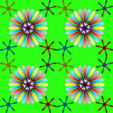 Rainbow flower pattern Stock Photo