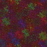 Rainbow flower seamless pattern Royalty Free Stock Photography