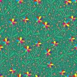 Rainbow flower seamless pattern Royalty Free Illustration