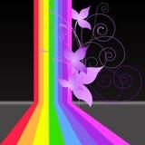 Rainbow Flowers Royalty Free Stock Image