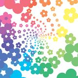 Rainbow flowers Royalty Free Stock Photos