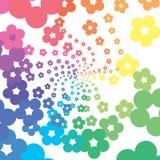 Rainbow flowers Royalty Free Stock Photos