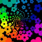 Rainbow flowers Stock Image