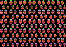 Rainbow flowers seamless pattern background Royalty Free Stock Image