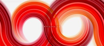 Rainbow fluid color line abstract background - swirl and circles, twisted liquid colours design, colorful marble or. Plastic wavy texture backdrop, multicolored stock illustration