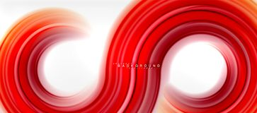 Rainbow fluid color line abstract background - swirl and circles, twisted liquid colours design, colorful marble or. Plastic wavy texture backdrop, multicolored Royalty Free Illustration