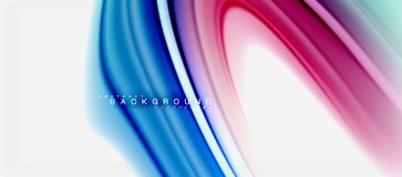 Rainbow Fluid Colors Abstract Background Twisted Liquid Design, Colorful Marble Or Plastic Wavy Texture Backdrop Royalty Free Stock Images