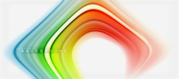Rainbow fluid colors abstract background twisted liquid design, colorful marble or plastic wavy texture backdrop. Multicolored template for business or stock illustration