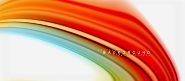 Rainbow fluid colors abstract background twisted liquid design, colorful marble or plastic wavy texture backdrop. Multicolored template for business or vector illustration