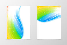 Rainbow flyer template design Royalty Free Stock Photography