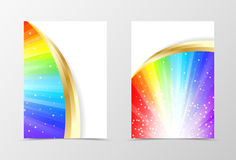 Rainbow flyer template design Stock Photography