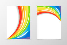 Rainbow flyer template design Royalty Free Stock Images