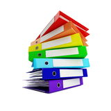Rainbow folder. On a white background Royalty Free Stock Photography