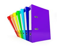 Rainbow folder Stock Photos