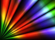 Rainbow folds. Computer rendered 3D abstract spectrum background with folds Royalty Free Stock Photography