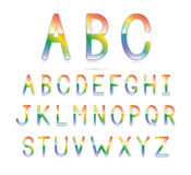 Rainbow Font Stock Photography