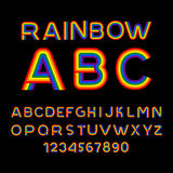Rainbow font. LGBT letters. ABC for Symbol of gays and lesbians. Stock Images