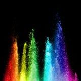 Rainbow fountain Stock Images