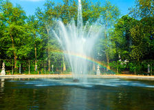 Rainbow Fountain in City Park, Brussels Stock Images