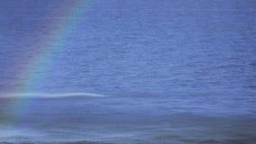 Rainbow in fountain stock footage