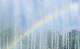Rainbow in the fountain Stock Photography