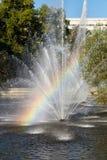 Rainbow in the fountain. Lipetsk, Russia Royalty Free Stock Image