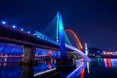 Rainbow fountain show at Expo Bridge in Korea. Stock Photography