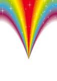 Rainbow fountain sparkle Stock Images